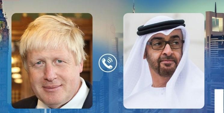 تأکید ولی عهد ابوظبی و نخست وزیر انگلیس بر تحقق صلح در منطقه
