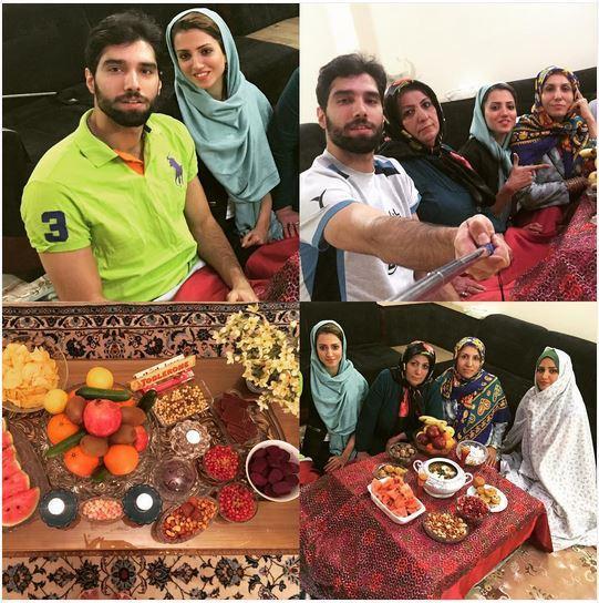 محمد موسوی در کنار خانواده اش